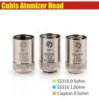 Cubis BF Coil Head pour Joyetech Cubis réservoir ego AIO Kit SS316 0.5ohm 1.0ohm Clapton 1.5ohm Anti Leaking e Bobines atomiseurs cig de remplacement