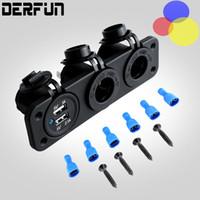 3- IN- 1 12- 24V Car charging adapter dual port RV Motorcycle y...