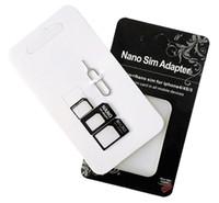 SIM-карты NOOSY 4 в 1 Nano SIM-карты Micro для стандартного адаптера Адаптер конвертера Набор для iPhone 6 6s плюс 7 Samsung s7 края примечание 5