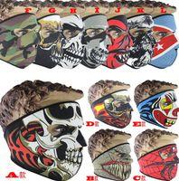 Halloween Neoprene Full Skull Face Masks Halloween costume p...