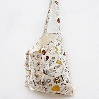 Little Girl Printing Double Layers Cotton Linen Shoulder Bag...