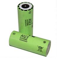 100шт / серия A123 26650M1B батарея LiFePO4 наивысшей мощности перезаряжаемые lifepo4 26650M1B 2500mAh батареи 70amp 26650 LiFePO4 аккумулятор