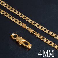"""2016 new fashion 4MM*20"""" side chain plated 18k gold necklace..."""