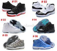 Wholesale Legend Blue White 11 XI Retro Basketball Shoes Che...