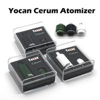 Аутентичные Yocan Cerum Форсунка Полный керамический Воск Испаритель с запасными Кварц Dual ППЭС Катушка Fit 1100mAh Yocan Evolve Plus Battery Box 510 Mod