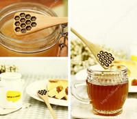 Мода Горячие Симпатичные Вуд Творческий Carving Honey Honey шиваемый Ложки Honeycomb Резные Мед Медведицы инструмент кухни Flatware Вспомогательное оборудование