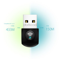 Wireless dodocool AC600 Dual Band USB esterna adattatore Wi-Fi Dongle 2.4GHz 150Mbps o 5GHz 433Mbps DC23