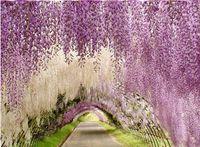 120pcs lot Artificial ivy flowers Silk Flower Wisteria Vine ...