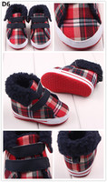 Hot Sale Warm Winter Boots Plaid Double Hook & Loop Straps F...