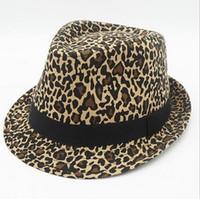 New Style Fashion Street Wide Brim Hats Leopard print Caps U...