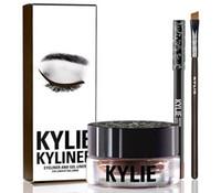 Comprar Precio barato Kylie Kyliner Delineador de ojos y Delineador Gel Cosmetics Por Kylie Jenner Kyliner Negro Marrón de color del cepillo y crema