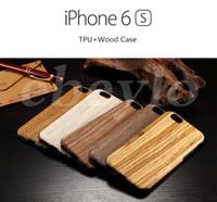 Case en bois réel pour l'iPhone 6 / 6s iPhone 6 plus / 6s, plus New Design Meilleure qualité Hot Sale