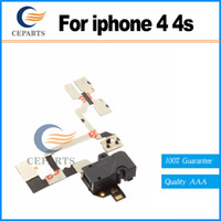 Noir et blanc casque écouteurs jack flex audio câble flex ruban partie de remplacement pour iPhone 4 4g vente chaude