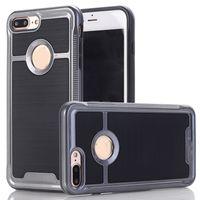 Para el iPhone 7 más la caja ultra delgada de protección cubierta posterior para el iPhone 7 Armadura cajas del teléfono móvil