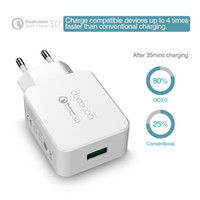 Dodocool Qualcomm Quick Charge 3.0 18W à prova de fogo ABS compacto portátil USB Cell Phone Wall Charger DA56