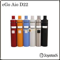 Kit D22 Joyetech eGo AIO avec 2ml e-jus Capacité Etre tout-en-un style Récemment ajouté Lock System Childproof 100% Original DHL gratuit