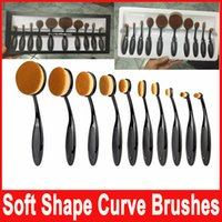 New Professional Soft Oval Toothbrush Makeup Brush Sets Foun...