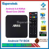 M8S Amlogic S812 Quad Core 2.0GHZ Android 4.4 TV Box 8G 2GB H.265 HEVC 4K 802.11ac BT 4.0 HDMI SPDIF RJ45 XBMC KODI14.2 Smart TV Box DHL