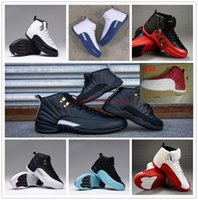 2016 men women basketball shoes retro shoes 12 red white ath...
