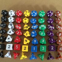 7pcs Set Resin Polyhedral TRPG Games For Dungeons Dragons Op...