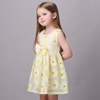 Cute Girls Clothes Summer Dresses Childrens Big Bowknot Tuni...