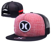 5 colors grey white blue red Hurley Snapbacks all teams bean...