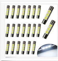 100PCS T10 28mm 30mm 3SMD LED Mirror Light Festoon Bulbs For...