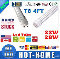 25unit US STOCK + T8 1. 2M 4 feet T8 Led Tubes 1200mm 20W 22W ...
