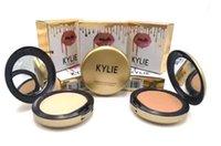 Nuevo polvo del arreglo del estudio de la alta calidad del maquillaje de la profesión del polvo de Kylie de la cara del maquillaje más la prensa de la fundación componen el polvo de cara sopla 63g DHL