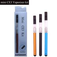 Mini CE3 Blister Kit Vaporisateur CDB bourgeon contact 280mAh batterie O cartouche stylo atomiseur Vapor WAX kit e cigarettes de réservoir d'huile épaisse de vape TZ733
