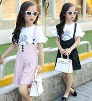 2016 New Children Girls Princess Printing Ruffles Short Slee...