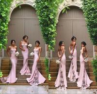 Дешевые Колонка Sexy Русалка невесты платья 2016 бретельках Милая Hot Pink Lace Backless Bridesmaids дева чести платья