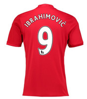 Customized Thai Quality 16- 17 new 9 IBRAHIMOVIC Soccer Jerse...