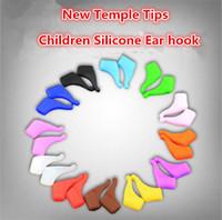 copos altos de sapatos, óculos para crianças Anti Slip orelha de cores ganchos crianças Temple Silicone dicas óculos evitar conjuntos escorregadias 12colors 2231