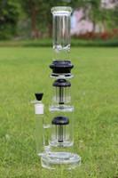 Super Heavy Water Glass Bong 20MM épaisseur Base 1.6KG haute 18