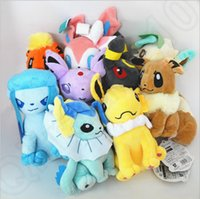 Poke juguetes de peluche de dibujos animados Eevee Vaporeon Flareon Espeon Jolteon Umbreon peluche muñecos niños de los niños de regalo 9 estilos OOA377