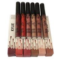 Kylie Lip gloss par kylie Jenner Lipstick Avec Liquid Lip Gloss Matte Lasting kylie lipgloss de la marque de maquillage 15 couleurs jenner brillant à lèvres kylie
