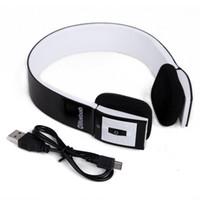 Écouteurs Écouteurs stéréo sans fil Bluetooth Écouteurs intégrés mains libres pour les appels en continu avec microphone FM TF pour iOS Galaxy