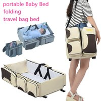 Baby Travel Travelling Bed Multifunctional Folding Baby Crib...