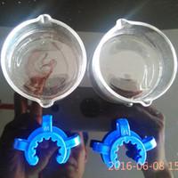 vente en gros 14 18 Nectar Collector 2.0 Kit 1.0 verre plat en plastique 14.4mm clip 18.8mm pour verre Bangs