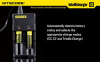 Nitecore I2 Универсальное зарядное устройство для 16340 18650 14500 26650 Аккумулятор E сигареты Muliti Функция Intellicharger перезаряжаемые DHL