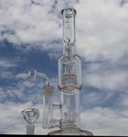 Nouveau bong en verre en verre de tube d'eau avec 8armes arbre birdcage perc éclaboussure garde y compris quartz banger clou et bol 18mm joint FC-388