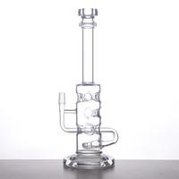 50x5mm Heavy Bong tuyau d'eau en verre 11 trous tête de douche inférieure Prc épaisseur de base et la bouche pièce avec clou Dôme S10