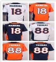 Wholesale Men' s Denver Manning football Jerseys Broncos...