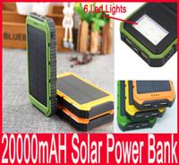20000mAh Solar Power Bank Ультратонкий LED Highlight солнечной энергии Банки 2A Выходной портативное зарядное устройство Solar POWERBANK с розничным пакетом Новый 2016