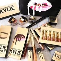 En stock!! Kylie Jenner Lipkit Lord Metal Gold l'Edition Limitée Anniversaire CONFIRMÉ Matte Lipstick lab Kit Cosmetics rouge à lèvres 6pcs / set