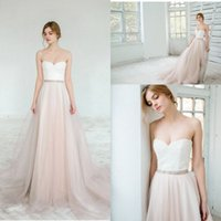 Sweety A Line Wedding Dresses Tulle Floor Length Brides With...