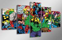 5 Панель HD печатных Marvel Avengers Халка Человек-паук Живопись Холст печати декор комнаты печать плаката картина холст стены плакаты