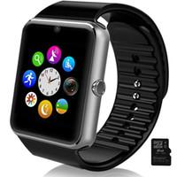 GT08 bluetooth montre téléphone intelligent élégant montre-bracelet avec une carte Micro caméra carte SD SIM fonction NFC