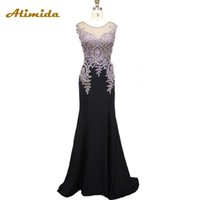 Appliques Evening Dresses See Through Back Evening Gowns Lux...